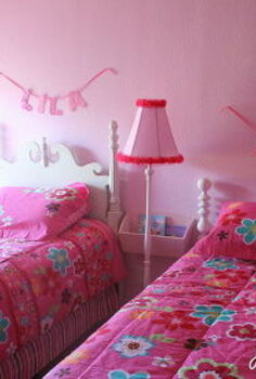 a shared room makeover for girls, bedroom ideas, home decor