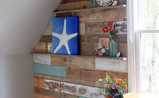 how to install a scrap wood wall, diy, home decor, pallet, wall decor, woodworking projects