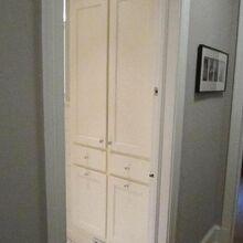 renovation of 40 s bungalow master bedroom and bath, bathroom ideas, bedroom ideas, home decor, Linen Cabinet