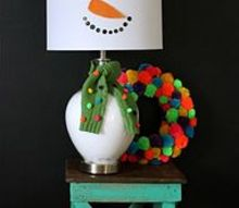 diy snowman lamp, home decor, lighting, seasonal holiday decor, How to make one super cute snowman lamp