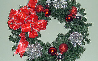 red silver wreath, seasonal holiday d cor, wreaths