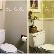 wallpaper is back, bathroom ideas, home decor, Prison cell bathroom turned chic