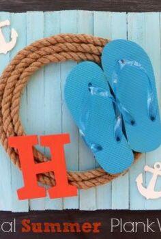 nautical rope summer wreath summer wreath rope, crafts, seasonal holiday decor, A fun Nautical Summer Plank Wreath