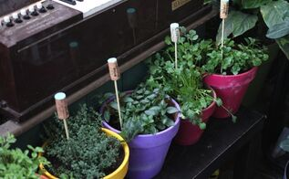 wine cork garden herb labels, gardening, repurposing upcycling