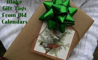 recycle old calendars into gift tags, crafts, repurposing upcycling