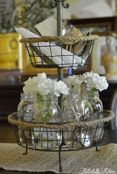my casual elegant mason jar centerpiece, crafts, home decor, mason jars, repurposing upcycling
