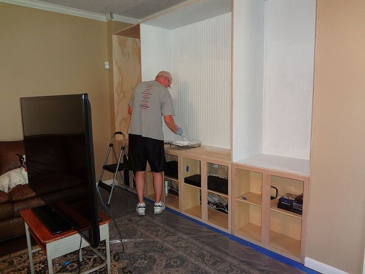 custom built entertainment center diy kitchen cabinets living room ideas painted furniture - Built In Entertainment Center Design Ideas