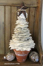 book page christmas tree, christmas decorations, crafts, seasonal holiday decor, The finished book page tree