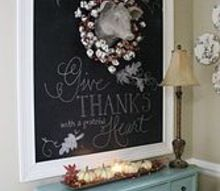 creating a large chalkboard wall, seasonal holiday d cor, Then I cut and mitered trim molding to frame the painted chalkboard wall