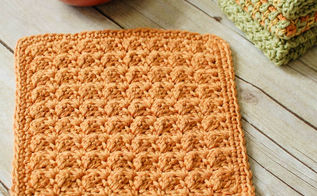 textured crochet dishcloth, crafts