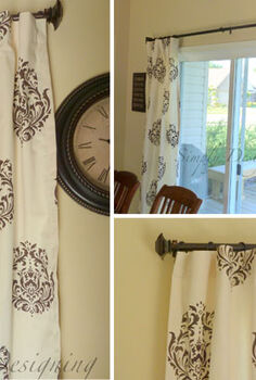 creating your own diy window treatments, painting, window treatments, DIY stenciled curtains