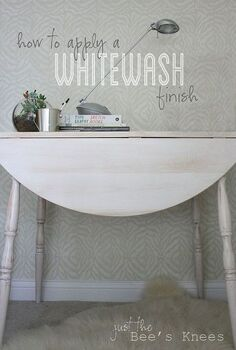 how to apply a whitewash finish, painted furniture, Learn how to easily whitewash your old furniture
