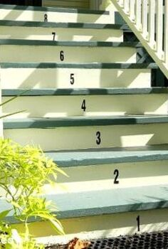 numbered porch steps, home decor, stairs, Numbers on front porch steps