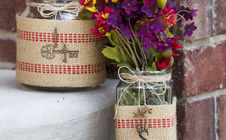 quick gift idea for mother s day, crafts, Gift Jars with Upholstery Webbing