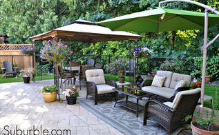 our backyard transformation, decks, diy, how to, outdoor living, patio, And here it is now dining area and sitting area
