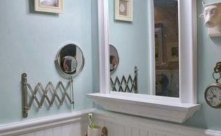 color matters painting a master bathroom, bathroom ideas, painting, The color makes the accessories on the wall pop