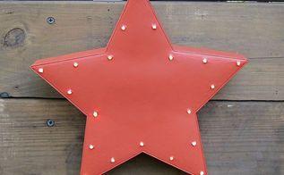 pottery barn inspired light up star wall decor, crafts, home decor, lighting