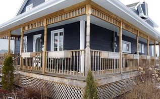 raised deck and victorian wrap around porch for country house, curb appeal, decks, diy, patio, porches, woodworking projects, Country Victorian Wrap Around Deck Building guide