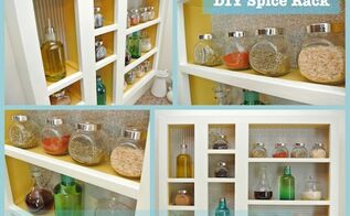 diy spice rack, cleaning tips, crafts, kitchen design, shelving ideas, woodworking projects, Custom Spice Roack