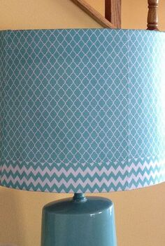 diy lampshade with hand designed paper, crafts, DIY Lampshade designed in photoshop printed and decoupaged onto an old lampshade