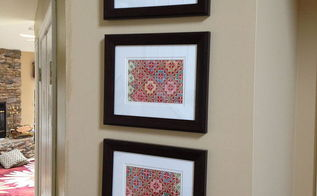 from throw pillow to framed art, crafts, home decor, repurposing upcycling