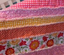 diy flannel baby rag quilt, crafts
