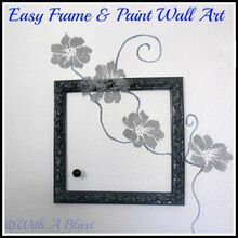 a diy frame amp paint wall art, crafts, A Frame some painting and a doorknob