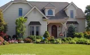 landscaping around your porch, curb appeal, flowers, landscape, The right landscaping around your porch is like icing on the cake