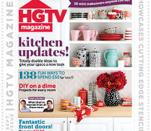hgtv magazine showcases cutting edge stencils, painted furniture