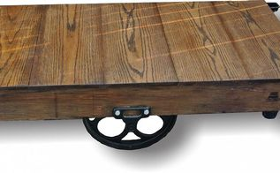1903 industrial cart restored and made into a coffee table, painted furniture, repurposing upcycling