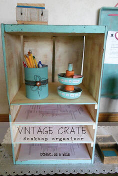 a new use for a vintage crate, painting, repurposing upcycling