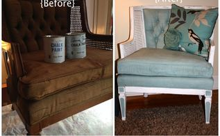 how to paint fabric with annie sloan paint, painted furniture, reupholster