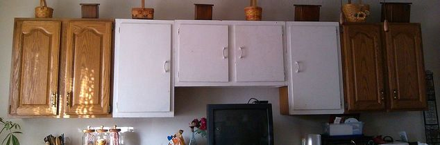 i need to match older white cabinets to the new ones, kitchen cabinets, kitchen design, painting