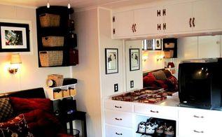 hardwood hardware 1964 mobile home renovation, painted furniture
