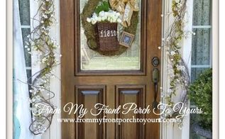 spring porch 2014, porches, seasonal holiday decor, wreaths