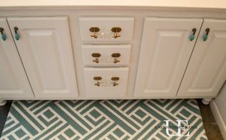 how to transform a builder grade bathroom vanity for less, bathroom ideas, painted furniture, repurposing upcycling