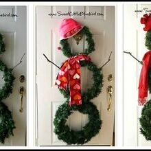 diy versatile snowman wreath for fun winter decor, crafts, seasonal holiday decor