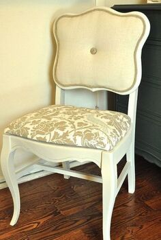 refresh and old caned back chair with tufting and upholstery, painted furniture, reupholster, Caned back chair after
