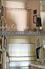 purely decorative bathroom facelift, bathroom ideas, home decor