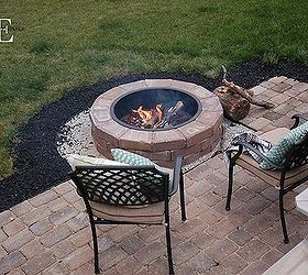 Attractive Diy Paver Patio And Fire Pit, Concrete Masonry, Decks, Outdoor Living, Patio