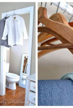 24 wow ideas from just a ladder, repurposing upcycling, Use a ladder to extend your changing area