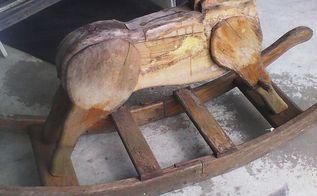 vintage rocking horse, repurposing upcycling