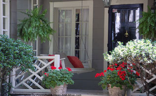 small porch pizzazz, curb appeal, outdoor living, porches, Even a small porch can hold a sweet porch swing