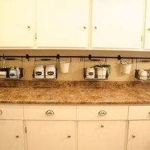 keeping the clutter off the counter, cleaning tips, kitchen design, 7 5 feet of wall storage means a clean counter