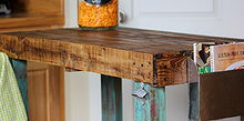 pallet island, diy, kitchen design, kitchen island, painted furniture, pallet, repurposing upcycling