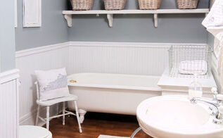 before and after bathroom in turn of the century farmhouse, bathroom ideas, home decor, painting
