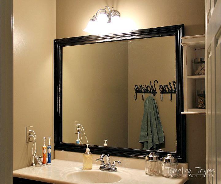 how to frame a builder grade bathroom mirror bathroom ideas diy home improvement