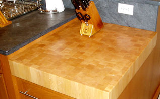 get the professional kitchen look with a butcher block, countertops, kitchen design