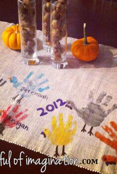 diy thanksgiving table runner, crafts, seasonal holiday decor, thanksgiving decorations, Thanksgiving Table Runner