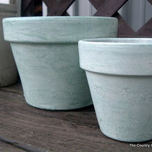 making pots looked like pottery with crazing, crafts, gardening, Come see how to age clay pots in a few simple steps